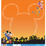 EK Success - Disney Collection - Halloween - 12 x 12 Double Sided Paper with Varnish Accents - Mickey Halloween