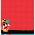 EK Success - Disney Collection - Mickey Family - 12 x 12 Paper with Glitter and Varnish Accents - Mickey Mouse