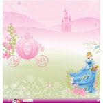 EK Success - Disney Collection - Princess - 12 x 12 Paper with Glitter Accents - Cinderella