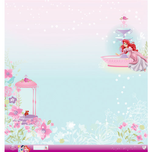 EK Success - Disney Collection - Princess - 12 x 12 Paper with Glitter Accents - Ariel