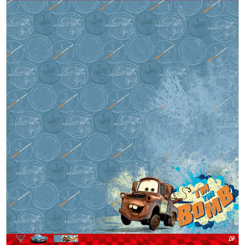 EK Success - Disney Collection - Cars 2 - 12 x 12 Paper - Mater