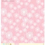 EK Success - Disney Collection - Classic Pooh - 12 x 12 Paper with Glitter Accents - Pink Dandelion