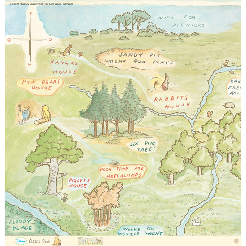 EK Success - Disney Collection - Classic Pooh - 12 x 12 Paper - 100 Acre Woods