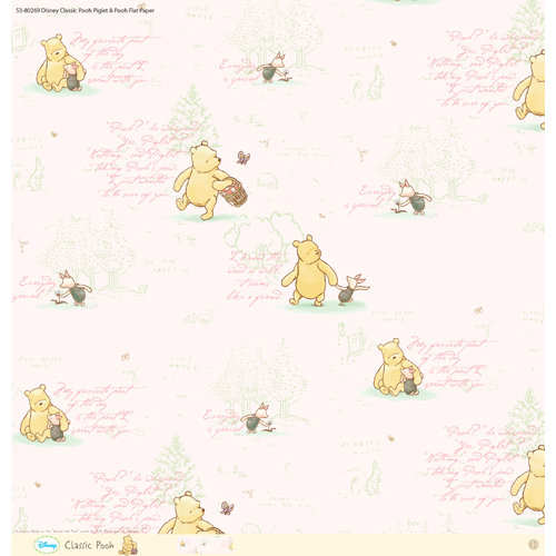 EK Success - Disney Collection - Classic Pooh - 12 x 12 Paper - Piglet and Pooh