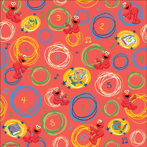 EK Success - Sesame Street Collection - 12 x 12 Paper with Varnish Accents - Elmo in Circles