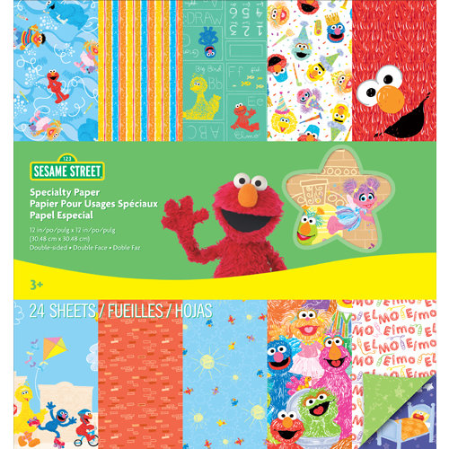 EK Success - Sesame Street Collection - 12 x 12 Specialty Paper Pad