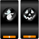 EK Success - Slim Profile - Mini Punch - 2 Piece Set - Ghost and Jack O Lantern