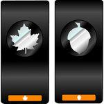 EK Success - Slim Profile - Mini Punch - 2 Piece Set - Maple Leaf and Acorn, CLEARANCE