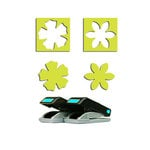 EK Success - Paper Shapers - Slim Profile - Mini Punch Set - 2 Pieces - Daisy and Petunia, CLEARANCE