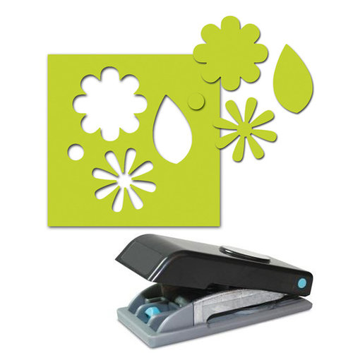 EK Success - Paper Shapers - Slim Profile - Large Punch - Flowers and Leaves