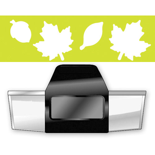 EK Success - Paper Shapers - Slim Profile - Edger Punch - Falling Leaves, CLEARANCE