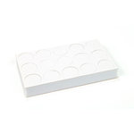 EK Success - 3D Dots - Circle - White - 1/2 Inch Thick