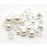EK Success - Jolee's Jewels - Crystallized Swarovski Elements Collection - Celebrations - Jewelry Beads - Pearl Crystal Combo - White