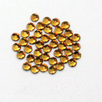 EK Success - Jolee's Jewels - Crystallized Swarovski Elements Collection - Flat Back Hotfix Jewels - 3 mm - Topaz