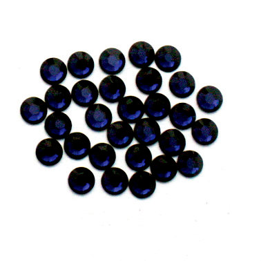 EK Success - Jolee's Jewels - Crystallized Swarovski Elements Collection - Flat Back Hotfix Jewels - 4 mm - Dark Indigo