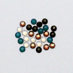 EK Success - Jolee's Jewels - Crystallized Swarovski Elements Collection - Flat Back Hotfix Jewels - 4 mm - Taos Mix
