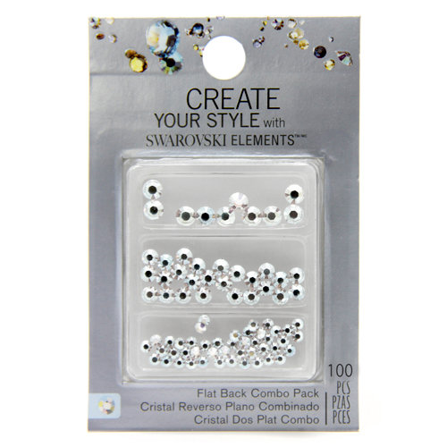 EK Success - Create Your Style - Just Add Crystals Collection - Jewelry - Flatback Combo Pack - Crystal