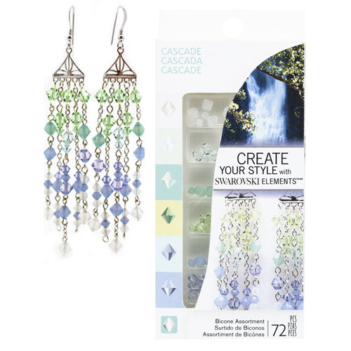 EK Success - Create Your Style - Fashion Kits Collection - Jewelry - Cascade Crystal Assortment
