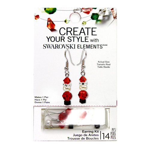 EK Success - Create Your Style - Christmas - Jewelry - Earring Kit - Santa