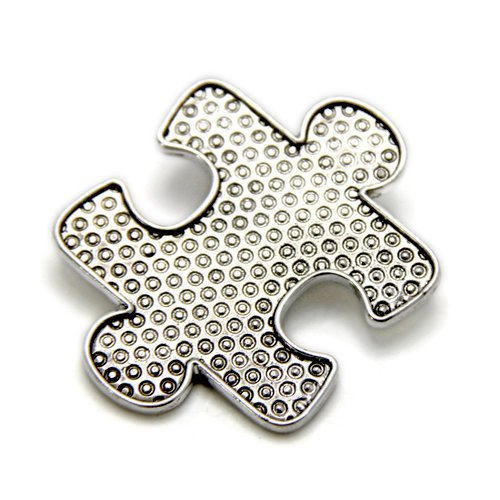 EK Success - Create Your Style - Just Add Crystals Collection - Jewelry - Pendant - Puzzle Piece - Silver