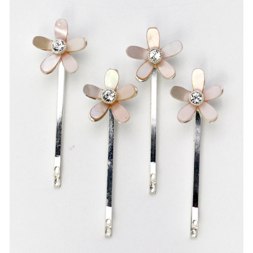 EK Success - Jolee's Jewels - Special Occasion Collection - Hair Pins - Mother of Pearl - Crystal