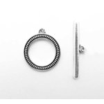 EK Success - Jolee's Jewels - Jewelry Toggle Closure - Round Coin Edge - Silver