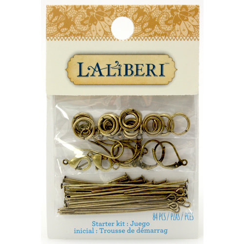 EK Success - Laliberi - Jewelry - Brass Starter Kit - Finding Assortment
