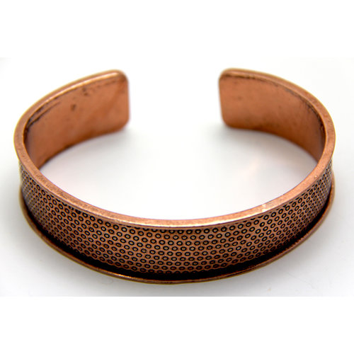 EK Success - Create Your Style - Just Add Crystals Collection - Jewelry - Bangle Cuff - Simple Texture - Copper