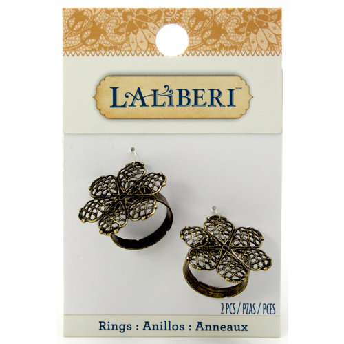 EK Success - Laliberi - Jewelry - Brass Rings - Filigree Flowers