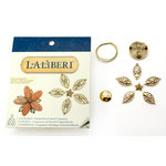 EK Success - Laliberi - Vintage Petals Collection - Jewelry Multi Component Kit - Cathedral - Gold