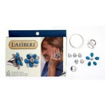 EK Success - Laliberi - Vintage Petals Collection - Jewelry Ring Kit - Floraline - Silver