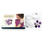 EK Success - Laliberi - Vintage Petals Collection - Jewelry Cuff Kit - Deco Sway - Silver