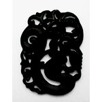 EK Success - Jolee's Jewels - Jewelry Stone Pendant - Carved Asian - Black Jade