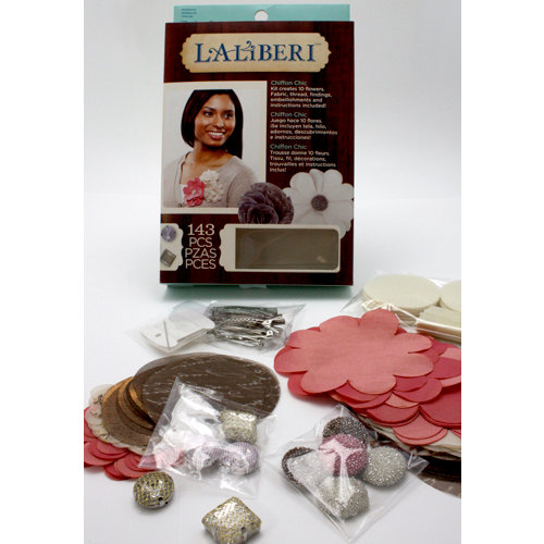 EK Success - Laliberi - Julie Comstock - Jewelry - Flower Kit - Chiffon Chic - Light