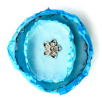 EK Success - Laliberi - Julie Comstock - Jewelry - Ready to Wear Flower - Teal Round