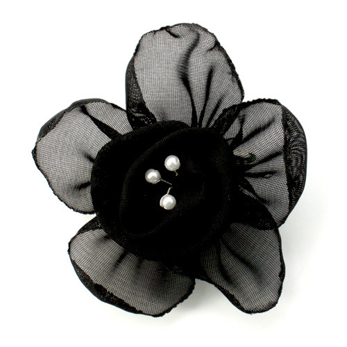 EK Success - Laliberi - Julie Comstock - Jewelry - Ready to Wear Flower - Black Rose