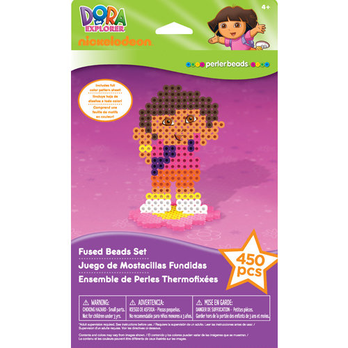 EK Success - Nickelodeon Collection - Introduction Starter Set - Fused Beads - Dora
