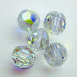 EK Success - Jolee's Jewels - Crystallized Swarovski Elements Collection - Jewelry Beads - Round - 8 mm - Crystal Aurora Borealis