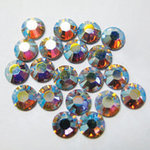 EK Success - Jolee's Jewels - Crystallized Swarovski Elements Collection - Flat Back Hotfix Jewels - 5 mm - Crystal Aurora Borealis
