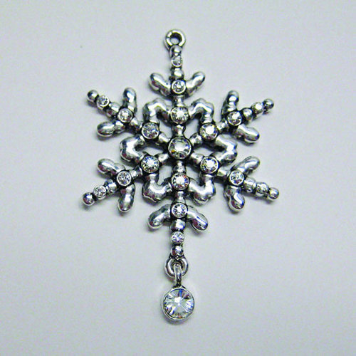 EK Success - Jolee's Jewels - Crystallized Swarovski Elements Collection - Jewelry Pendant - Snowflake - Crystal