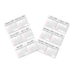 EK Success - Art Blanche Collection - Calendar Stickers - 2007-2009, CLEARANCE