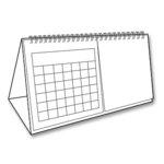 EK Success - Art Blanche Collection - Calendar Tent