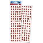 EK Success - Disney - 3 Dimensional Stickers - Mickey Red Alphabet, CLEARANCE