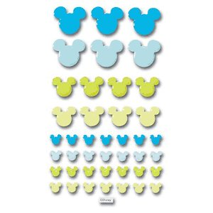 Disney Adhesive Tiles - Blue and Green Mickey Icon