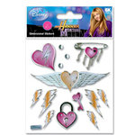 EK Success - Disney - Hannah Montana Collection - 3 Dimensional Stickers - Heart Wings
