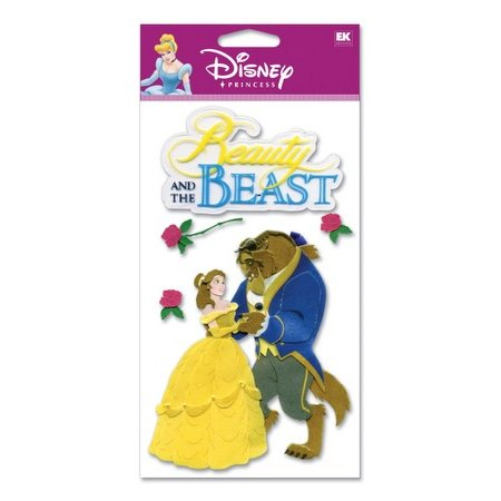 EK Success Disney - 3D Stickers - Beauty and the Beast, CLEARANCE