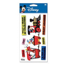 EK Success - Disney - 3 Dimensional Stickers - Train Mickey, CLEARANCE