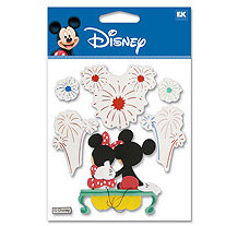 EK Success - Disney - 3 Dimensional Stickers - Fireworks Mickey