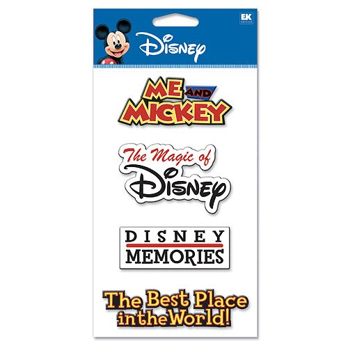 EK Success - Disney Collection - 3-D Dimensional Stickers - Words