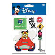 EK Success - Disney - 3 Dimensional Stickers - Race Car Mickey, CLEARANCE